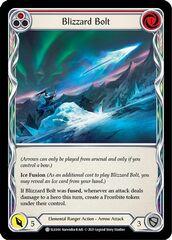 Blizzard Bolt (Red) - Rainbow Foil - 1st Edition