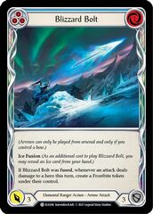 Blizzard Bolt (Blue) - Rainbow Foil - 1st Edition