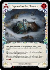 Exposed to the Elements - Rainbow Foil - 1st Edition
