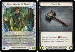 Briar, Warden of Thorns // Titan's Fist - 1st Edition