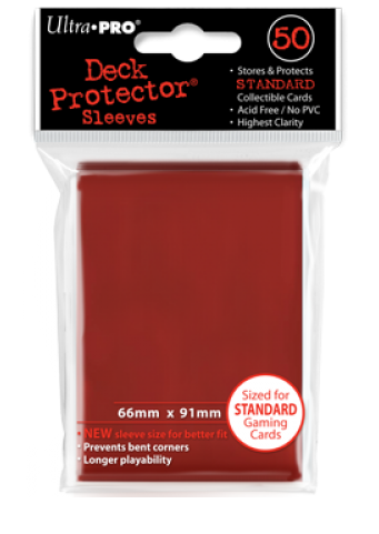 Ultra Pro Standard Sleeves - Red (50 ct.)