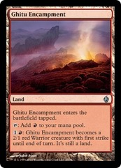 Ghitu Encampment - Foil on Channel Fireball