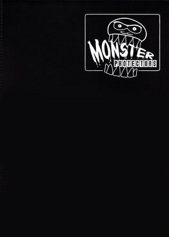 Monster Protectors 9 Pocket Matte Black Binder