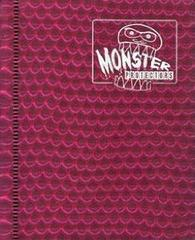 Monster Protectors 4 Pocket Pink Binder