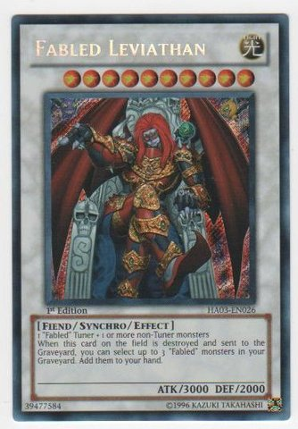 Fabled Leviathan - HA03-EN026 - Secret Rare - 1st Edition