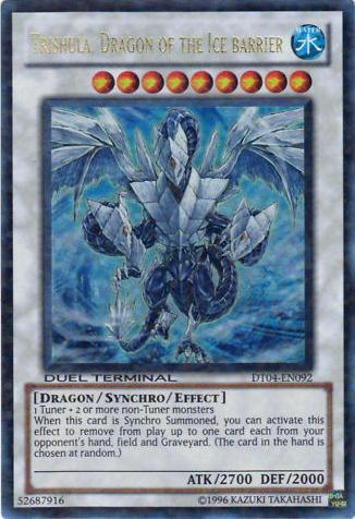 Trishula, Dragon of the Ice Barrier - DT04-EN092 - Ultra Parallel Rare - Duel Terminal