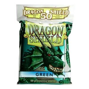 Dragon Shield 50 Count Yugioh Sized Sleeves - Green
