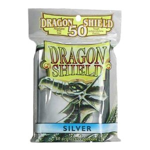 Dragon Shield 50 Count Yugioh Sized Sleeves - Silver