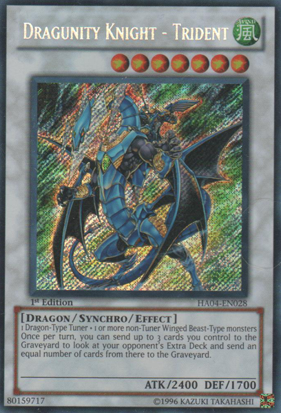 Dragunity Knight - Trident - HA04-EN028 - Secret Rare - 1st Edition