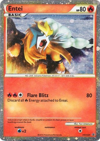 Entei (HGSS Promo 20) - HGSS20 - Promotional