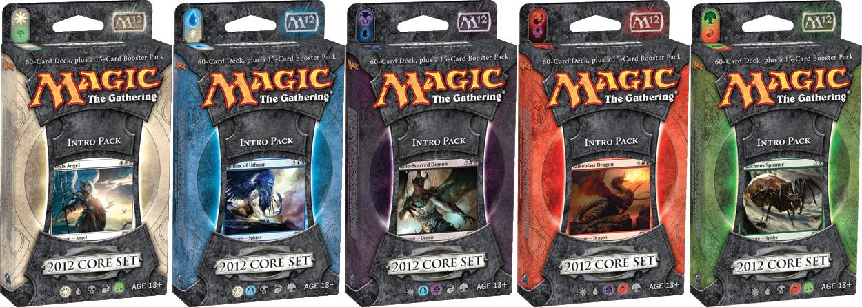All 5 Magic 2012 (M12) Intro Packs