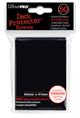 Ultra Pro - Black Standard Deck Protectors - 50ct
