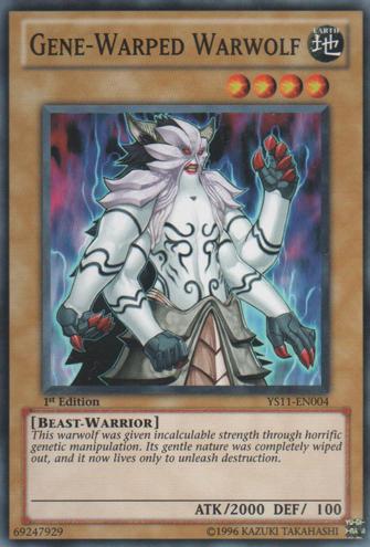 Gene-Warped Warwolf - YS11-EN004 - Common - 1st Edition