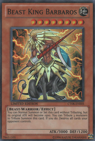 Beast King Barbaros - CT08-EN005 - Super Rare - Limited Edition - Promo