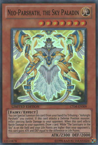 Neo-Parshath, the Sky Paladin - CT08-EN009 - Super Rare - Limited Edition - Promo