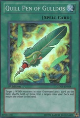 Quill Pen of Gulldos - GENF-EN058 - Super Rare - 1st Edition on Channel Fireball
