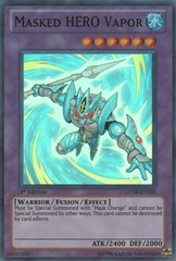 Masked HERO Vapor - GENF-EN095 - Super Rare - 1st Edition on Channel Fireball