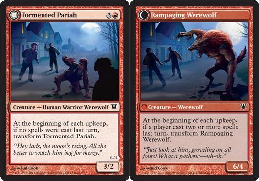Tormented Pariah // Rampaging Werewolf