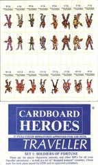Cardboard Heroes Traveller Set 1: Soldiers of Fortune