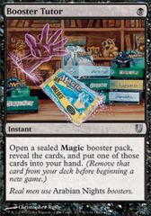 Booster Tutor - Foil on Channel Fireball