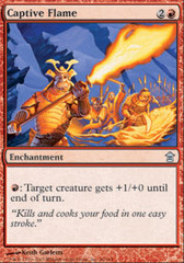 Captive Flame - Foil on Channel Fireball