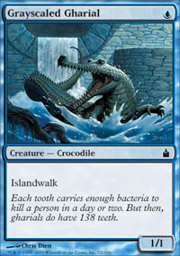 Grayscaled Gharial - Foil