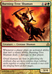 Burning-Tree Shaman - Foil on Channel Fireball