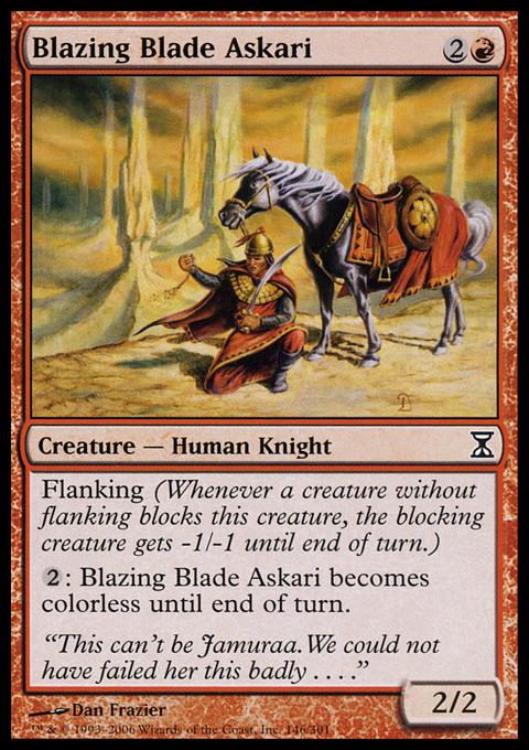 Blazing Blade Askari - Foil
