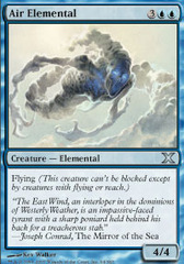Air Elemental - Foil on Channel Fireball