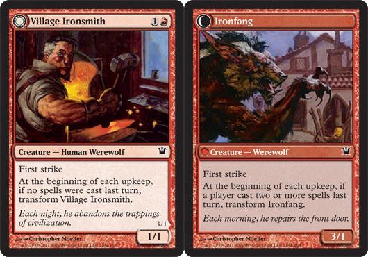 Village Ironsmith // Ironfang - Foil