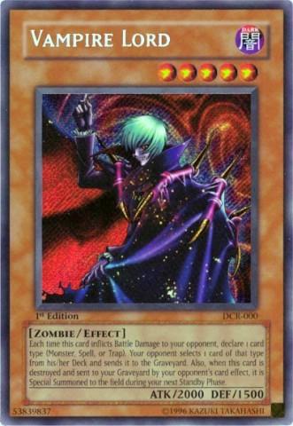 Vampire Lord - DCR-000 - Secret Rare - Unlimited Edition