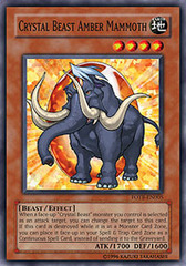 Crystal Beast Amber Mammoth - FOTB-EN005 - Common - Unlimited Edition on Channel Fireball