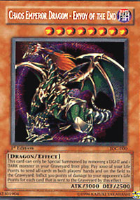 Chaos Emperor Dragon - Envoy of the End - IOC-000 - Secret Rare - Unlimited Edition