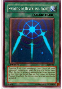 Swords of Revealing Light - LOB-101 - Super Rare - Unlimited Edition