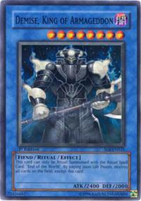 Demise, King of Armageddon - SOI-EN035 - Super Rare - Unlimited Edition