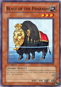 Beast of the Pharaoh - TDGS-EN032 - Common - Unlimited Edition