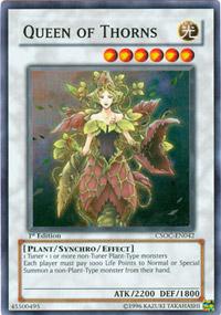 Queen of Thorns - CSOC-EN042 - Super Rare - Unlimited Edition