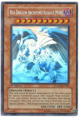 Red Dragon Archfiend/Assault Mode - Ghost Rare - CRMS-EN004 - Ghost Rare - Unlimited