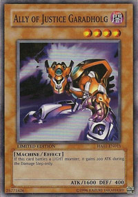 Ally of Justice Garadholg - HA01-EN015 - Super Rare - Unlimited Edition