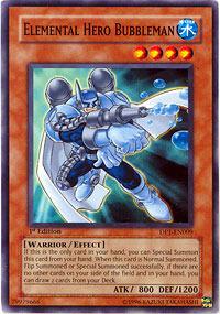 Elemental Hero Bubbleman - DP1-EN009 - Common - Unlimited Edition