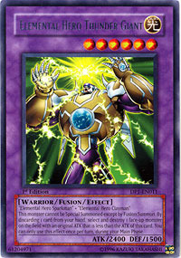 Elemental Hero Thunder Giant - DP1-EN011 - Rare - Unlimited Edition