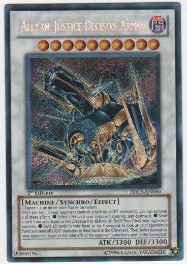 Ally of Justice Decisive Armor - HA03-EN060 - Secret Rare - Unlimited Edition
