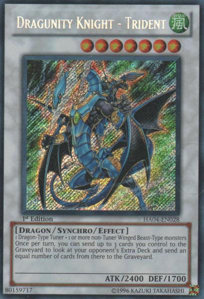 Dragunity Knight - Trident - HA04-EN028 - Secret Rare - Unlimited Edition