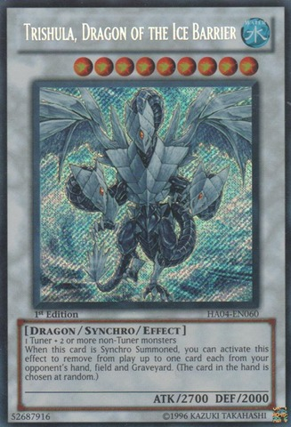 Trishula Dragon Of The Ice Barrier Ha04 En060 Secret