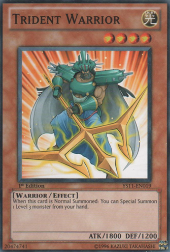 Trident Warrior - YS11-EN019 - Common - Unlimited Edition