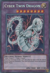 Cyber Twin Dragon - LCGX-EN180 - Secret Rare - 1st Edition