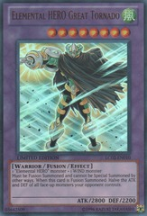 Elemental HERO Great Tornado - LC02-EN010 - Ultra Rare - Limited Edition