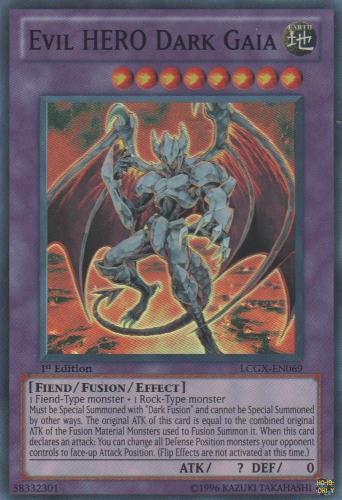 Evil HERO Dark Gaia - LCGX-EN069 - Super Rare - 1st Edition