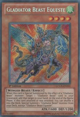 Gladiator Beast Equeste - LCGX-EN251 - Secret Rare - 1st Edition