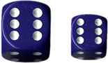36 D6 Dice Block - 12mm Opaque Purple with White - CHX25807
